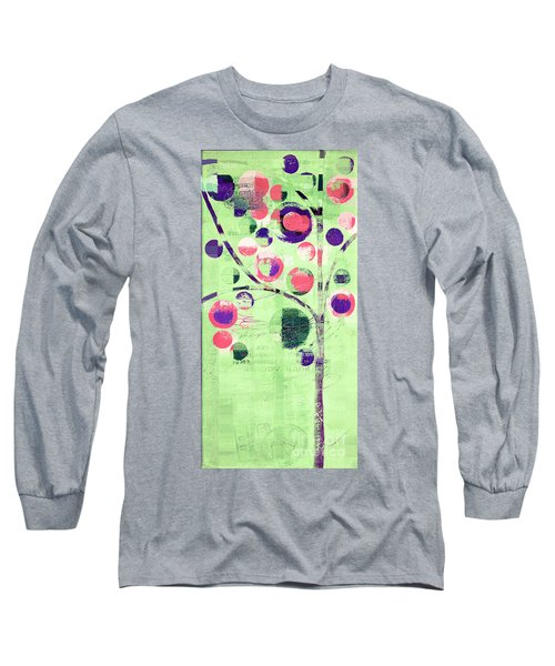 Long Sleeve T-Shirt featuring the digital art Bubble Tree - 224c33j5l by Variance Collections