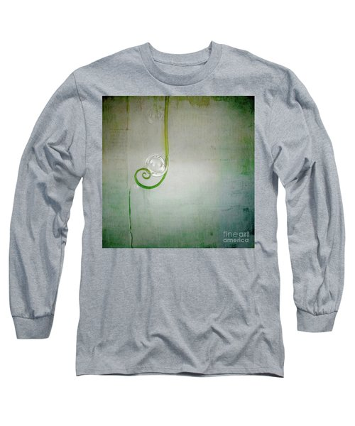 Long Sleeve T-Shirt featuring the digital art Bubbling -  S24aabbcc by Variance Collections
