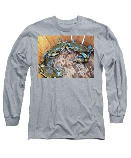 Bucket Of Blue Crabs Long Sleeve T-Shirt