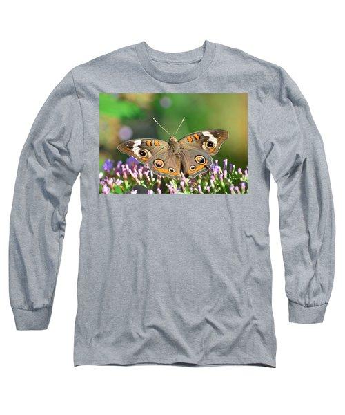 Buckeye Butterfly Long Sleeve T-Shirt by Kathy Eickenberg