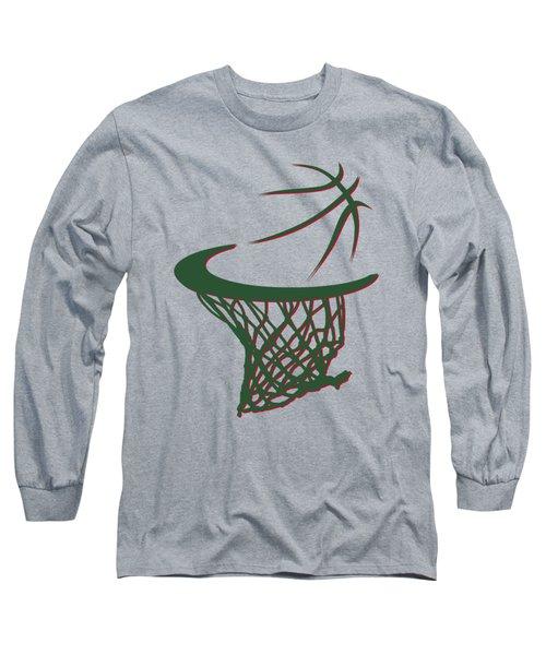 Bucks Basketball Hoop Long Sleeve T-Shirt