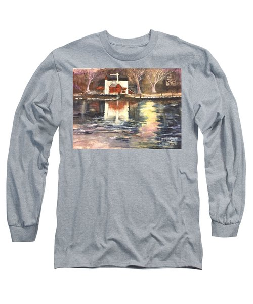 Bucks County Playhouse Long Sleeve T-Shirt by Lucia Grilletto