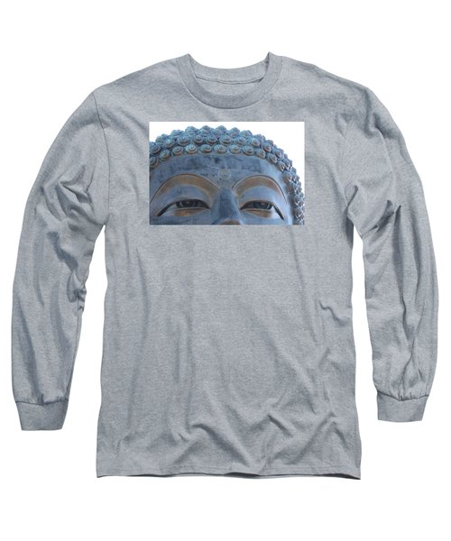 Buddha Eyes, Ngong Ping Village, Hong Kong Long Sleeve T-Shirt by Jennifer Mazzucco
