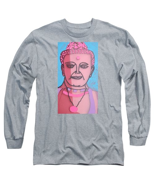 Long Sleeve T-Shirt featuring the painting Buddha Face by Don Koester