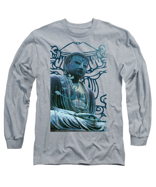 Buddha Great Statue Long Sleeve T-Shirt by Robert G Kernodle