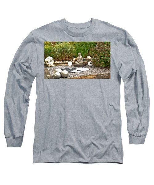 Buddha Looks At Yin And Yang Long Sleeve T-Shirt