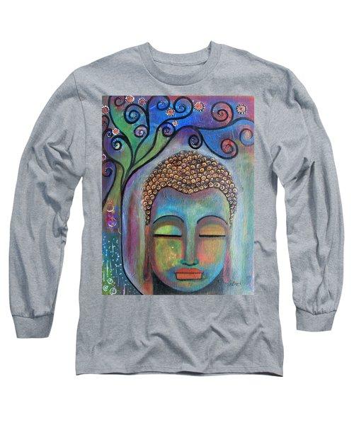Buddha With Tree Of Life Long Sleeve T-Shirt