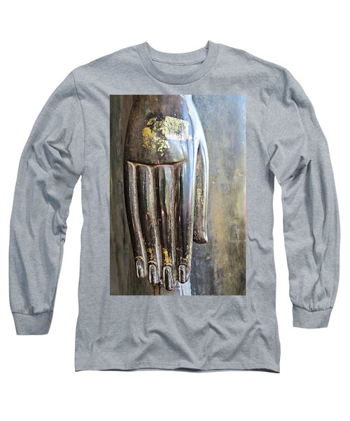 Budha's Hand Long Sleeve T-Shirt by Ethna Gillespie
