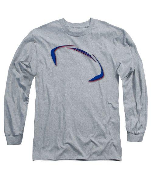 Buffalo Bills Football Shirt Long Sleeve T-Shirt by Joe Hamilton