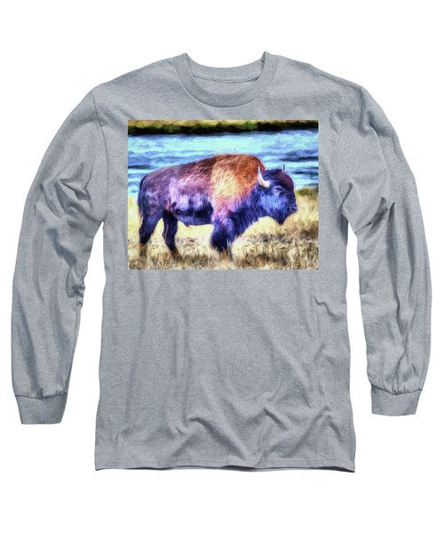 Buffalo Fine Art Print Long Sleeve T-Shirt