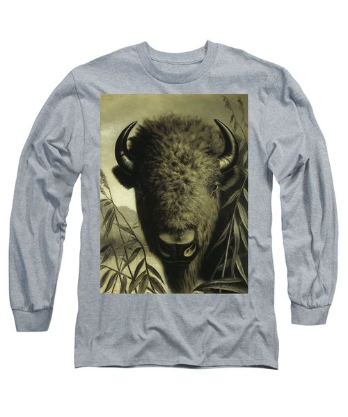 Buffalo Head Long Sleeve T-Shirt