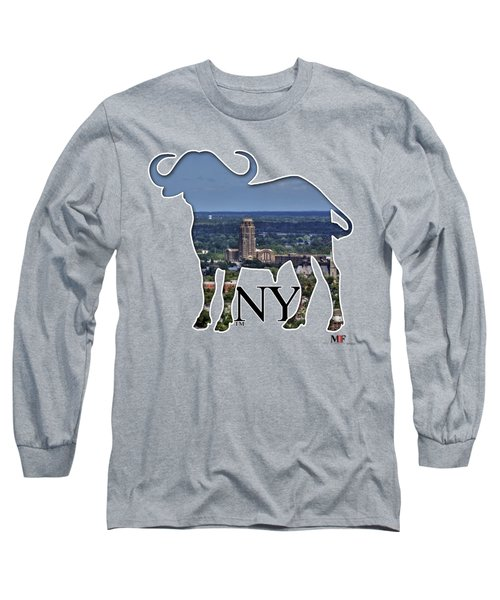 Buffalo Ny Central Terminal  Long Sleeve T-Shirt by Michael Frank Jr