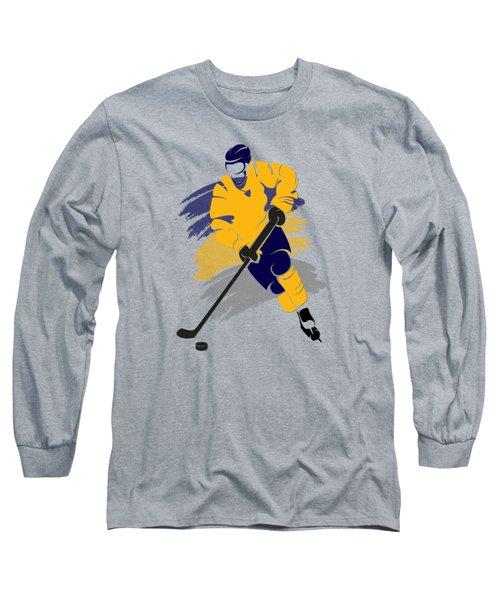 Buffalo Sabres Player Shirt Long Sleeve T-Shirt by Joe Hamilton