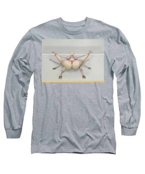 Long Sleeve T-Shirt featuring the mixed media Bug On Its Back by TortureLord Art