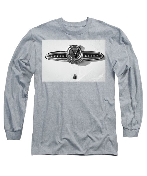 Long Sleeve T-Shirt featuring the photograph Buick V Eight Monotone by Dennis Hedberg