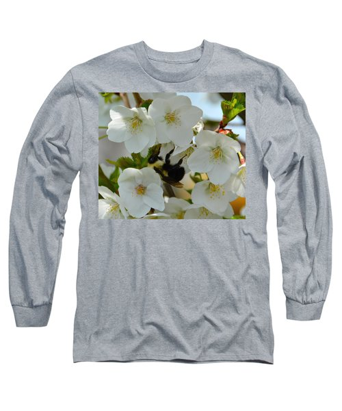 Bumble Bee In Hiding Long Sleeve T-Shirt