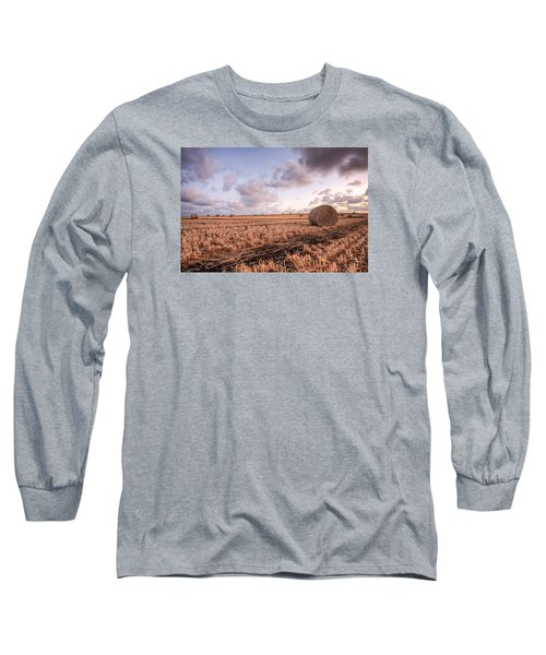 Bundy Hay Bales #2 Long Sleeve T-Shirt by Brad Grove