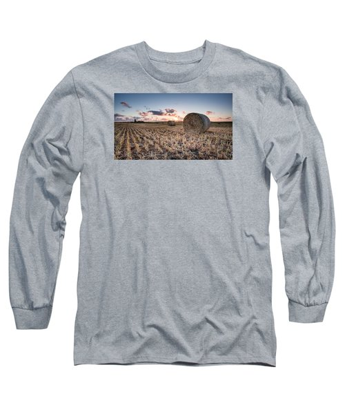 Bundy Hay Bales #4 Long Sleeve T-Shirt by Brad Grove