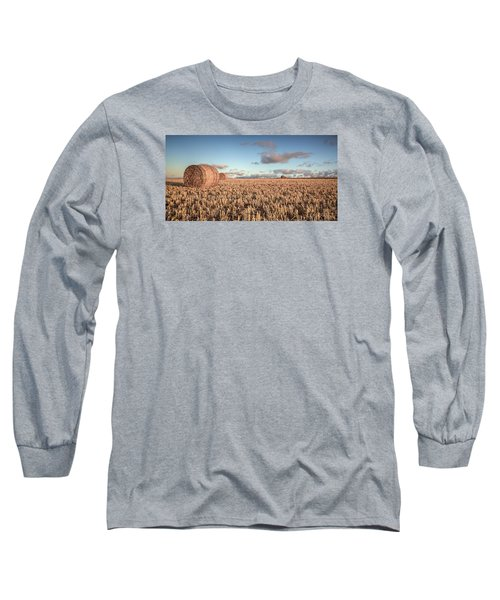 Bundy Hay Bales #6 Long Sleeve T-Shirt by Brad Grove