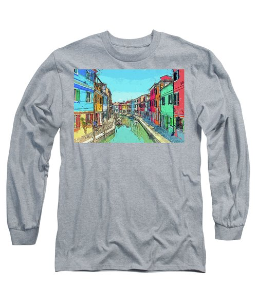 Burano Sketch Long Sleeve T-Shirt