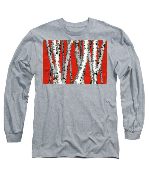 Burch On Red Long Sleeve T-Shirt by P J Lewis