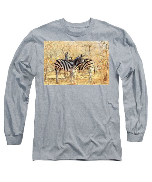 Burchells Zebras Long Sleeve T-Shirt by Betty-Anne McDonald