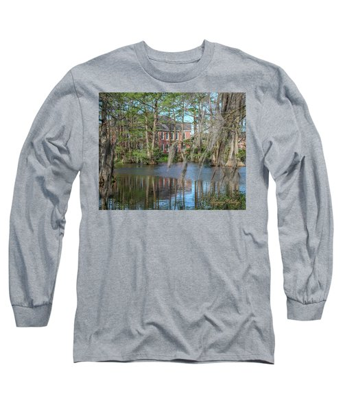 Long Sleeve T-Shirt featuring the photograph Burke Hall Cypress Lake by Gregory Daley  PPSA