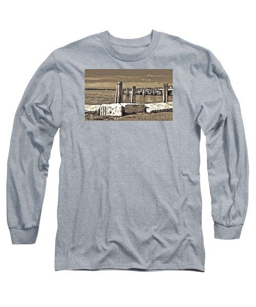Burlington Pier Long Sleeve T-Shirt by Rena Trepanier