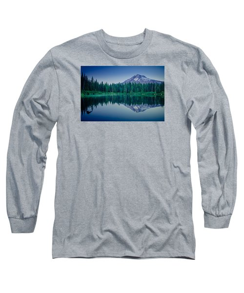 Burnt Lake Reflection Long Sleeve T-Shirt