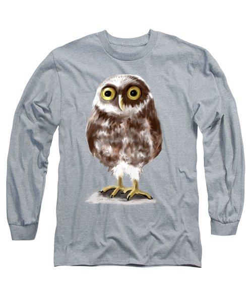 Burrowing Owl Long Sleeve T-Shirt by Jean Pacheco Ravinski