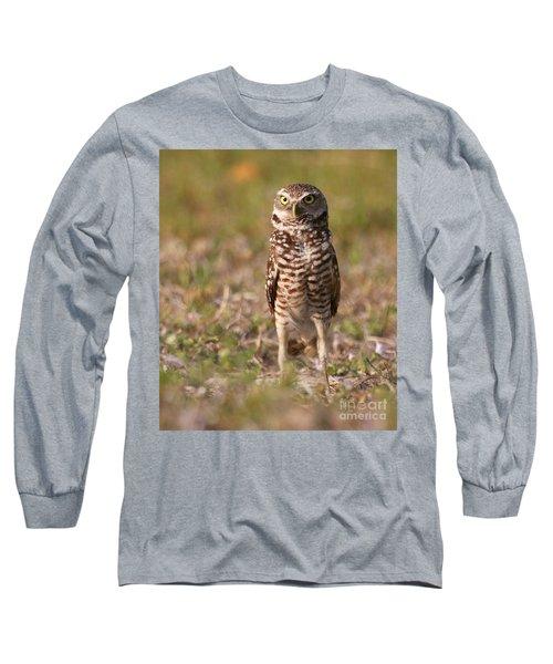 Burrowing Owl Standing Tall Long Sleeve T-Shirt by Myrna Bradshaw