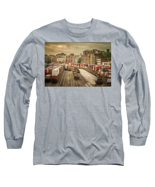 Busines End Of The City... Long Sleeve T-Shirt by Russell Styles