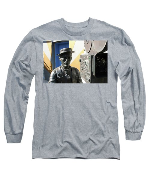 Buster Keaton On Camera Long Sleeve T-Shirt