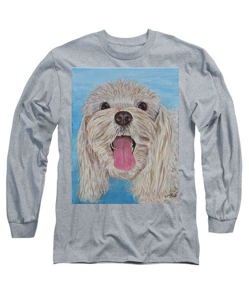 Long Sleeve T-Shirt featuring the painting Buster by Nancy Nale