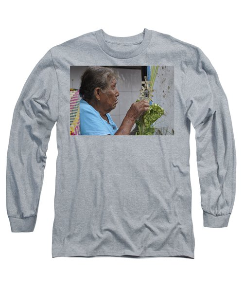 Long Sleeve T-Shirt featuring the photograph Busy Hands by Jim Walls PhotoArtist
