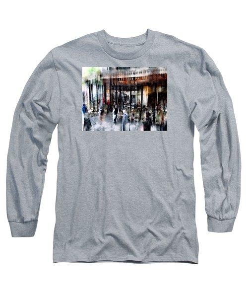 Busy Sidewalk Long Sleeve T-Shirt