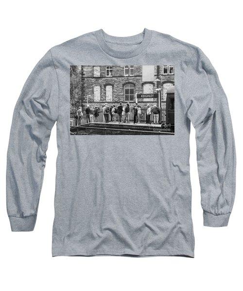 Busy Waiting Long Sleeve T-Shirt by David  Hollingworth