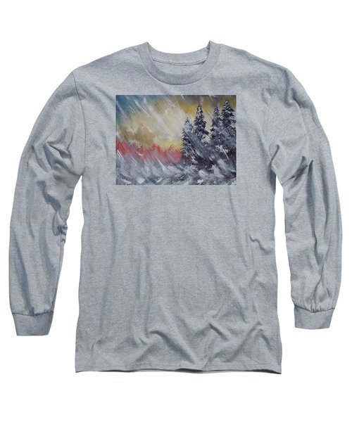 Long Sleeve T-Shirt featuring the painting But The Weather Man Said.... by Dan Whittemore