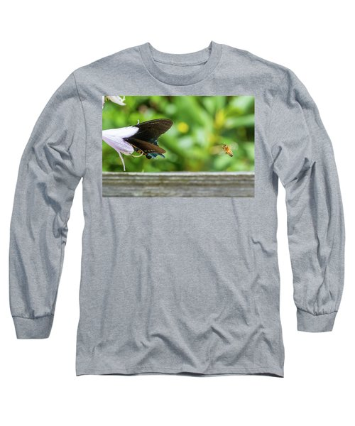 Butterfly And Bee Long Sleeve T-Shirt