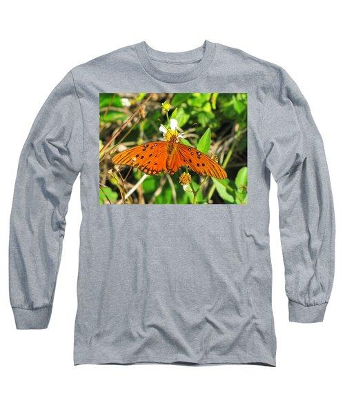 Butterfly At Canaveral National Seashore Long Sleeve T-Shirt
