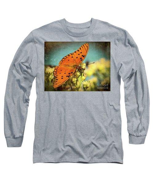 Butterfly Enjoying The Nectar Long Sleeve T-Shirt