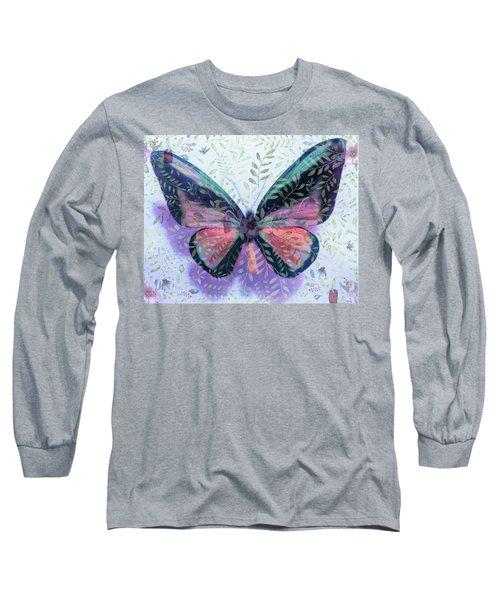 Butterfly Garden Fantasy Long Sleeve T-Shirt