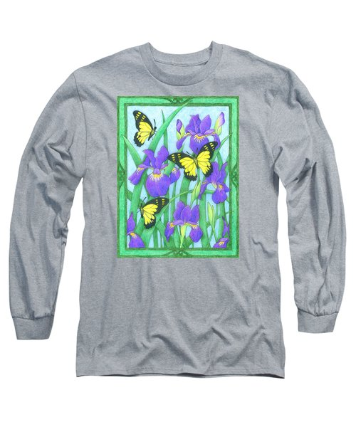 Butterfly Idyll-irises Long Sleeve T-Shirt