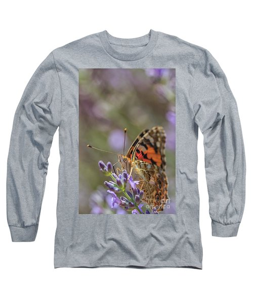 Long Sleeve T-Shirt featuring the photograph Butterfly In Close Up by Patricia Hofmeester