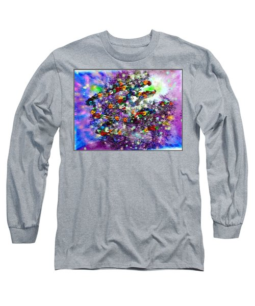 Long Sleeve T-Shirt featuring the digital art Buttons by Desline Vitto