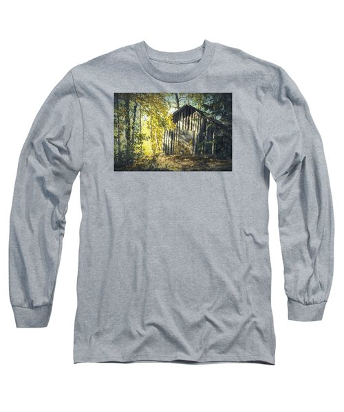 Long Sleeve T-Shirt featuring the painting By The Old Paths by Rose-Maries Pictures