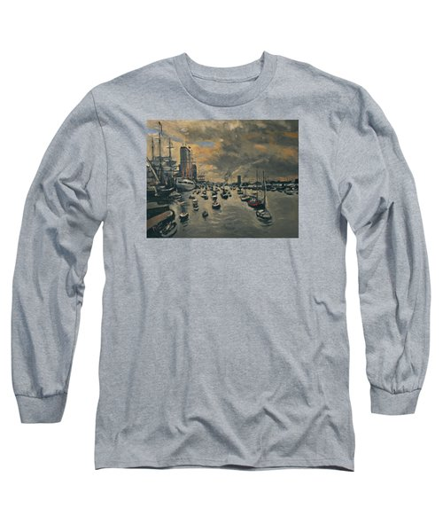 Bye Bye Sail Amsterdam Long Sleeve T-Shirt by Nop Briex