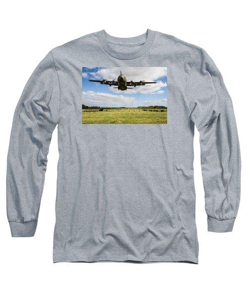 C130 Hercules Landing Long Sleeve T-Shirt by Ken Brannen