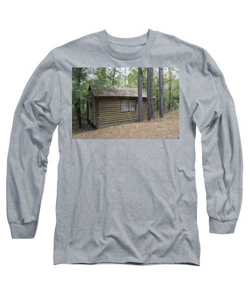 Cabin In The Woods Long Sleeve T-Shirt by Ricky Dean