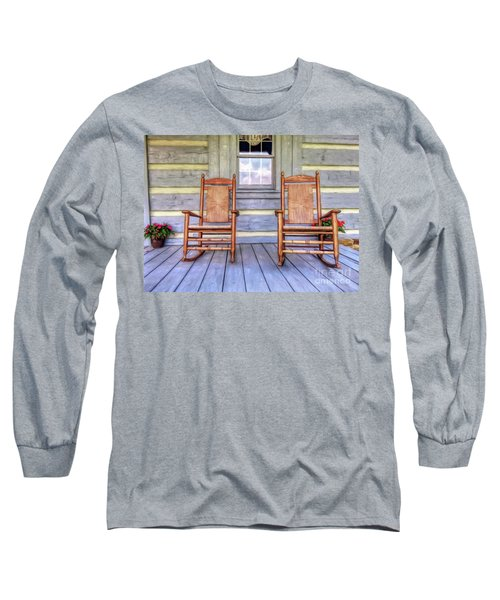 Cabin Porch Long Sleeve T-Shirt by Marion Johnson